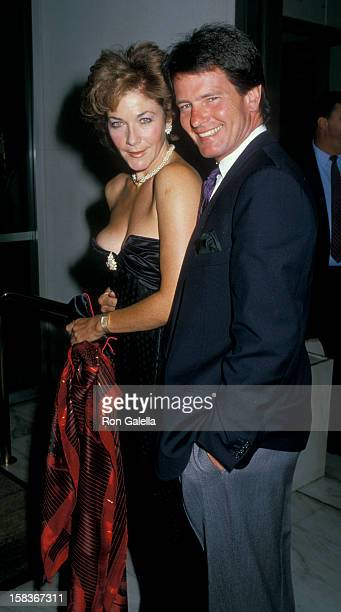Actor Gordon Thomson and actress Linda Thorson attending ABC TV Affiliates Party on June 8 1988 at the Century Plaza Hotel in Century City California
