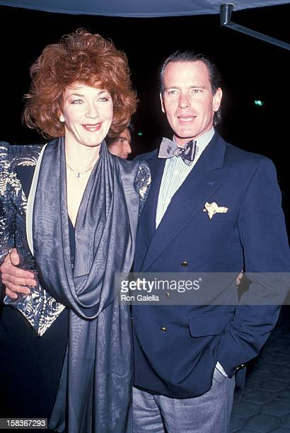 Actor Gordon Thomson and actress Linda Thorson attending Good Morning Britian on January 26 1989 at St James Club in Century City California