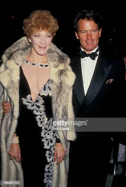 Actor Gordon Thomson and actress Linda Thorson attending Variety Club International AllStar Party on November 22 1987 at NBC TV Studios in Burbank...