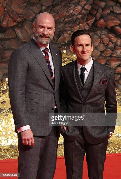 """Actor Graham McTavish and actor Adam Brown attend the """"The Hobbit: The Desolation of Smaug"""" European Premiere at Cinestar on December 9, 2013 in..."""