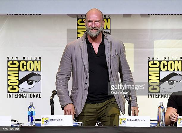 Actor Graham McTavish attends AMC's Preacher panel during ComicCon international at San Diego Convention Center on July 22 2016 in San Diego...