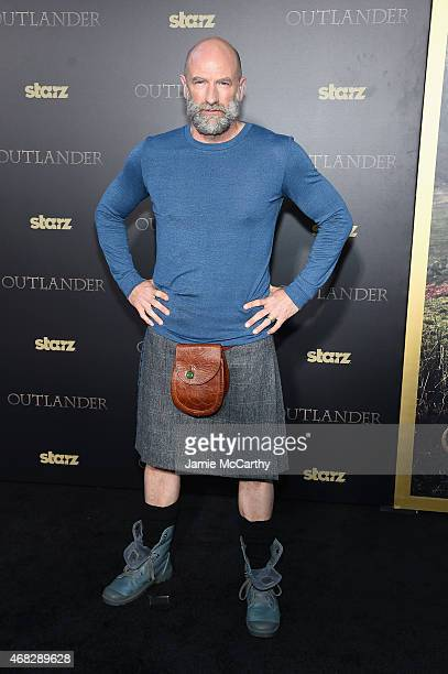 Actor Graham McTavish attends the Outlander midseason New York premiere at Ziegfeld Theater on April 1 2015 in New York City
