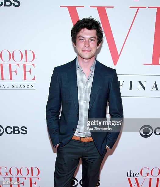 Actor Graham Phillips attends The Good Wife Finale Party at Museum of Modern Art on April 28 2016 in New York City