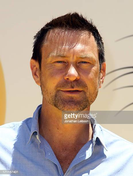 """Actor Grant Bowler arrives at the """"Despicable Me 2"""" premiere at Universal CityWalk on June 22, 2013 in Universal City, California."""