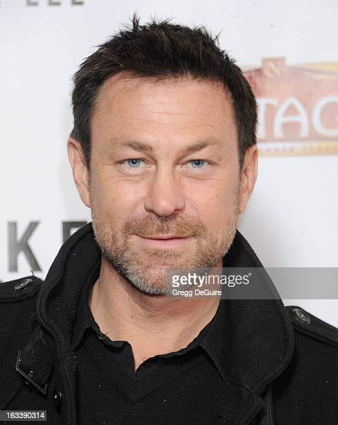 """Actor Grant Bowler arrives at the Los Angeles opening night of """"Mike Tyson - Undisputed Truth"""" at the Pantages Theatre on March 8, 2013 in Hollywood,..."""
