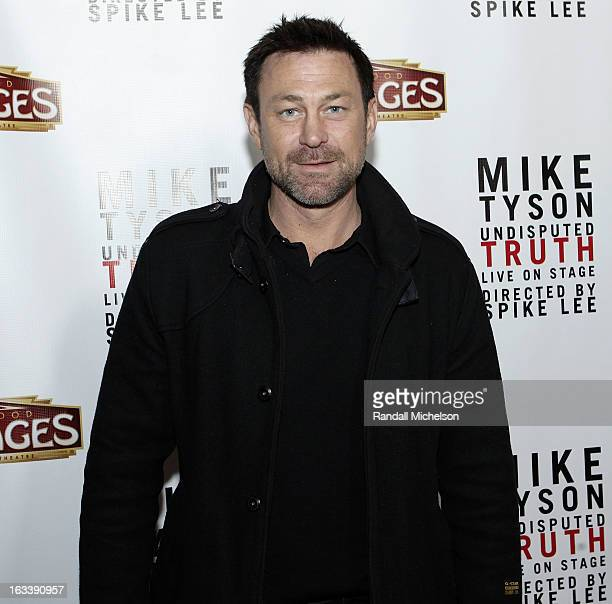 """Actor Grant Bowler attends the Los Angeles Premiere of """"Mike Tyson - Undisputed Truth"""" at the Pantages Theatre on March 8, 2013 in Hollywood,..."""