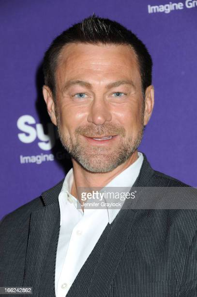 Actor Grant Bowler attends the Syfy 2013 Upfront at Silver Screen Studios at Chelsea Piers on April 10, 2013 in New York City.