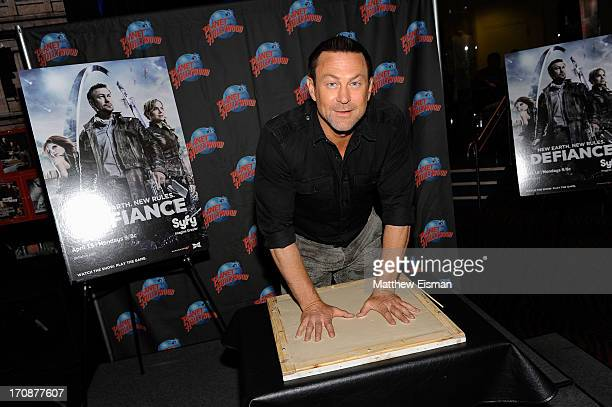 Actor Grant Bowler visits Planet Hollywood Times Square on June 19, 2013 in New York City.