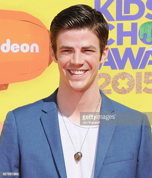 Actor Grant Gustin arrives at Nickelodeon's 28th Annual Kids' Choice Awards at The Forum on March 28 2015 in Inglewood California