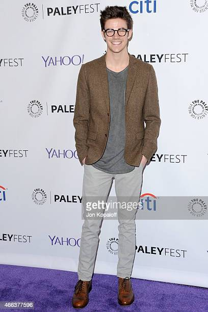 Actor Grant Gustin arrives at The Paley Center For Media's 32nd Annual PALEYFEST LA Arrow And The Flash at Dolby Theatre on March 14 2015 in...