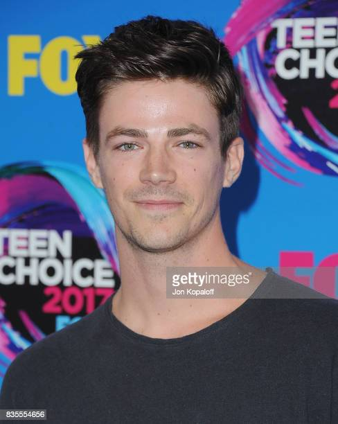Actor Grant Gustin arrives at the Teen Choice Awards 2017 at Galen Center on August 13 2017 in Los Angeles California