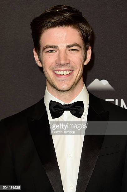 Actor Grant Gustin attends InStyle and Warner Bros 73rd Annual Golden Globe Awards PostParty at The Beverly Hilton Hotel on January 10 2016 in...