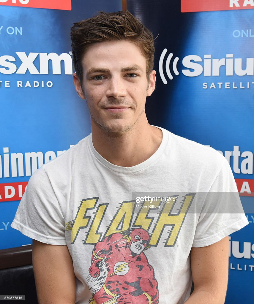 Actor Grant Gustin attends SiriusXM's Entertainment Weekly Radio Channel Broadcasts From Comic-Con 2016 at Hard Rock Hotel San Diego on July 22, 2016 in San Diego, California.