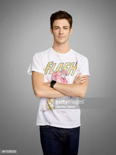 Actor Grant Gustin from 'The Flash' is photographed for Entertainment Weekly Magazine on July 23 2016 at Comic Con in the Hard Rock Hotel in San...
