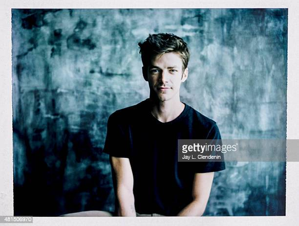 Actor Grant Gustin of 'The Flash' is photographed on polaroid film at ComicCon International 2015 for Los Angeles Times on July 9 2015 in San Diego...