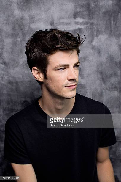Actor Grant Gustin of 'The Flash' poses for a portrait at ComicCon International 2015 for Los Angeles Times on July 9 2015 in San Diego California...