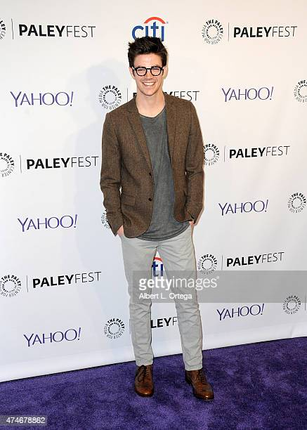 Actor Grant Gustin participates in The Paley Center For Media's 32nd Annual PALEYFEST LA featuring The CW's Arrow The Flash held at The Dolby Theater...