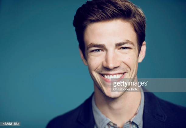 Actor Grant Gustin poses for a portrait at CW network the Summer 2014 TCAs on July 18 2014 in Beverly Hills California