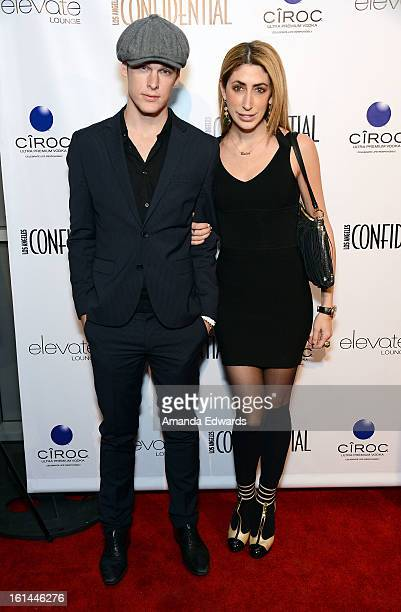 Actor Grant Harvey and stylist Lauren Rae Levy arrive at the Los Angeles Confidential and Harmony Project GRAMMY after party honoring Mary J Blige at...