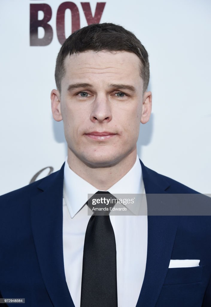Actor Grant Harvey arrives at the Los Angeles premiere of 'Billy Boy' at the Laemmle Music Hall on June 12, 2018 in Beverly Hills, California.