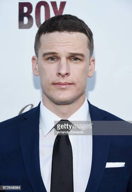 Actor Grant Harvey arrives at the Los Angeles premiere of 'Billy Boy' at the Laemmle Music Hall on June 12 2018 in Beverly Hills California