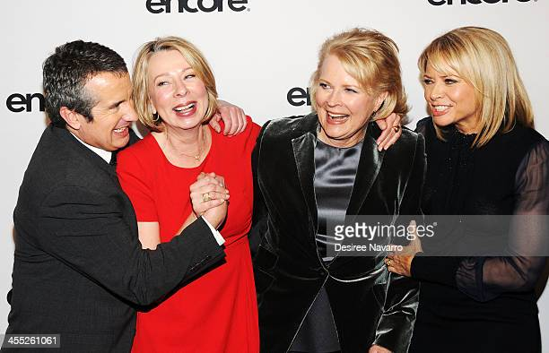 Actor Grant Shaud creator Diane English actors Candice Bergen and Faith Ford attend the 'Murphy Brown' 25th anniversary event at Museum of Modern Art...