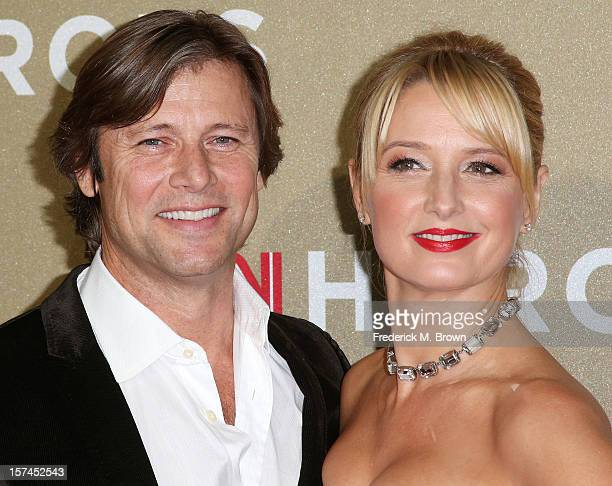 Actor Grant Show and actress Katherine LaNasa attend the CNN Heroes An All Star Tribute at The Shrine Auditorium on December 2 2012 in Los Angeles...