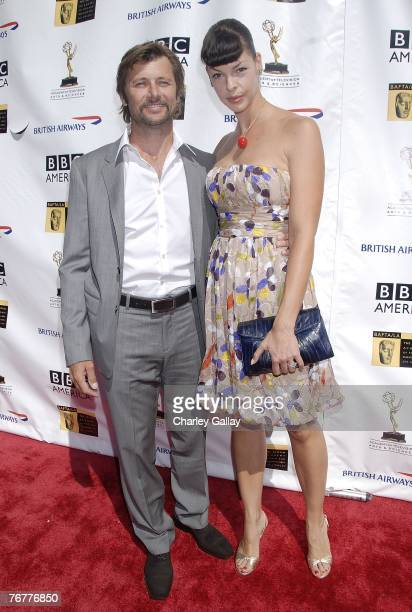 Actor Grant Show and actress Pollyanna McIntosh arrive at the 5th Annual Primetime Emmy Nominees' BAFTA Tea Party at Wattles Mansion on September 15...