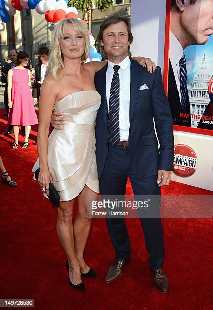 Actor Grant Show and Katherine LaNasa arrive at the Premiere of Warner Bros Pictures' The Campaign at Grauman's Chinese Theatre on August 2 2012 in...