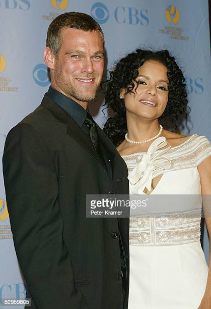 Actor Grayson McCouch and actress Victoria Rowell pose in the press room at the 32nd Annual Daytime Emmy Awards at Radio City Music Hall May 20 2005...