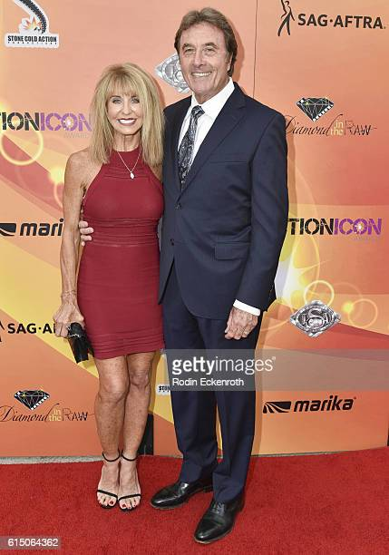 Actor Greg Barnett and Barbie attend The Action Icon Awards at Sheraton Universal on October 16 2016 in Universal City California