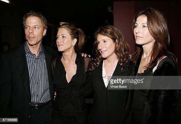 Actor Greg Germann actress Jennifer Aniston director Nicole Holofcener and actress Catherine Keener arrive at the Sony Pictures Classics premiere of...