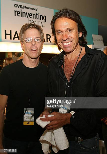 Actor Greg Germann and Hair Styliest Cristophe with CVS at the Access Hollywood Stuff You Must Lounge Presented by On 3 Productions at Sofitel Hotel...