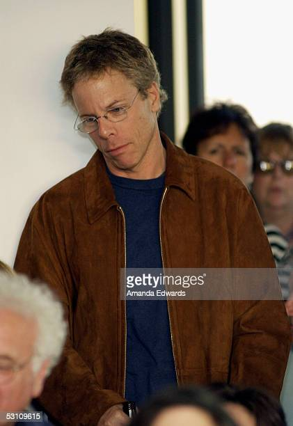 Actor Greg Germann attends An Evening With Gore Vidal at the home of Paul Alan Smith on June 20 2005 in Los Angeles California The event served to...