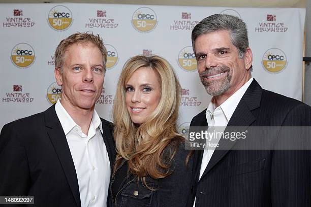 Actor Greg Germann Martha Champlin and Executive Director of OPCC John Maceri attend the Vintage Hollywood Fundraiser for Ocean Park Community Center...