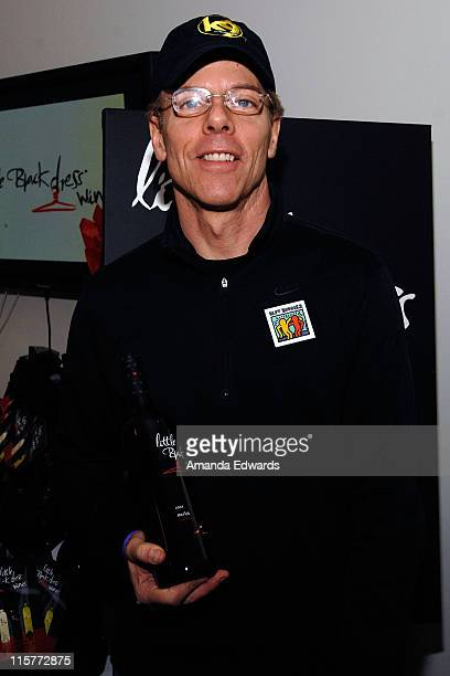Actor Greg Germann poses at Little Black Dress Wines at Kari Feinstein Golden Globes Style Lounge held at Zune LA on January 9, 2009 in Los Angeles,...