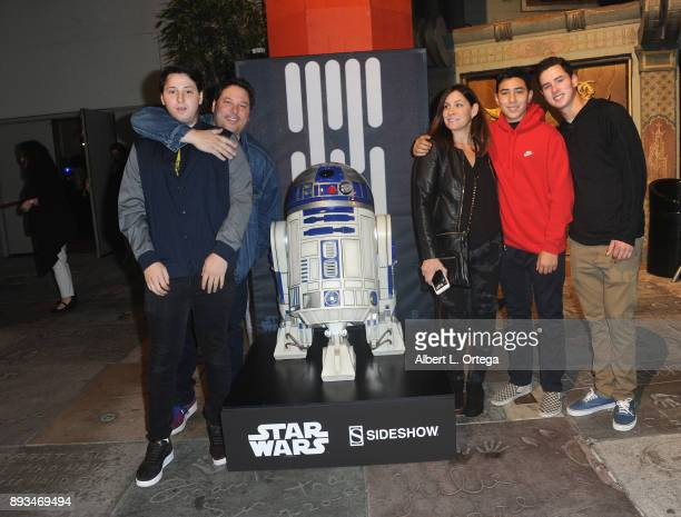 Actor Greg Grunberg and family at the Opening Night Celebration Of Walt Disney Pictures And Lucasfilm's 'Star Wars The Last Jedi' At TCL Chinese...