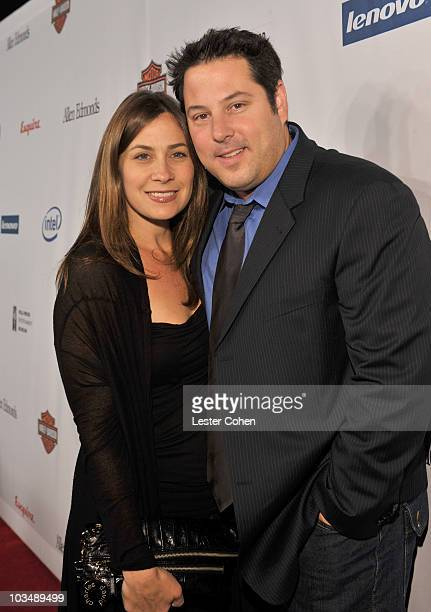 Actor Greg Grunberg and wife Elizabeth Dawn Wershow arrives at Hollywood Entertainment Museum Honors The Cast Of Heroes held at the Esquire House on...