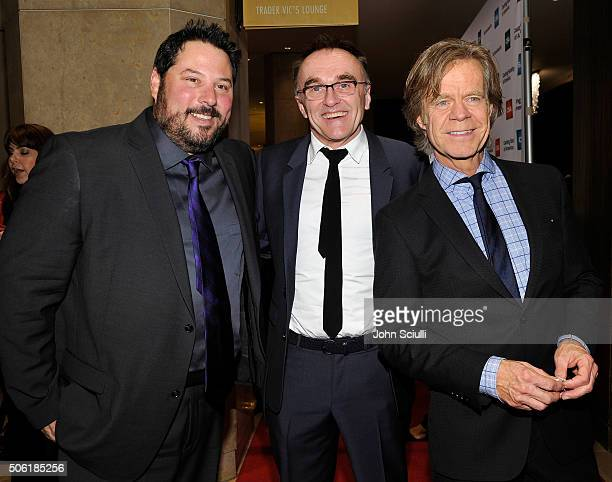 Actor Greg Grunberg Director Danny Boyle and Actor William H Macy attend the Casting Society of America's 31st Annual Artios Awards at The Beverly...
