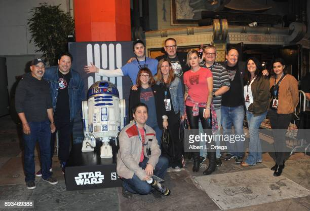 Actor Greg Grunberg with members of Legion M at the Opening Night Celebration Of Walt Disney Pictures And Lucasfilm's 'Star Wars The Last Jedi' At...