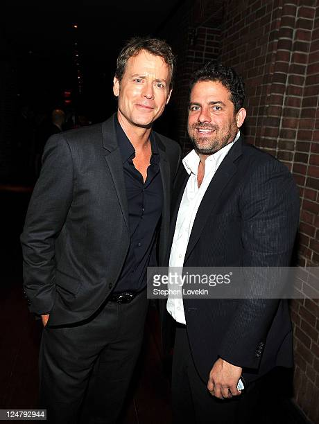 "Actor Greg Kinnear and Brett Ratner attend the premiere of The Weinstein Company's ""I Don't Know How She Does It"" after party sponsored by QVC &..."