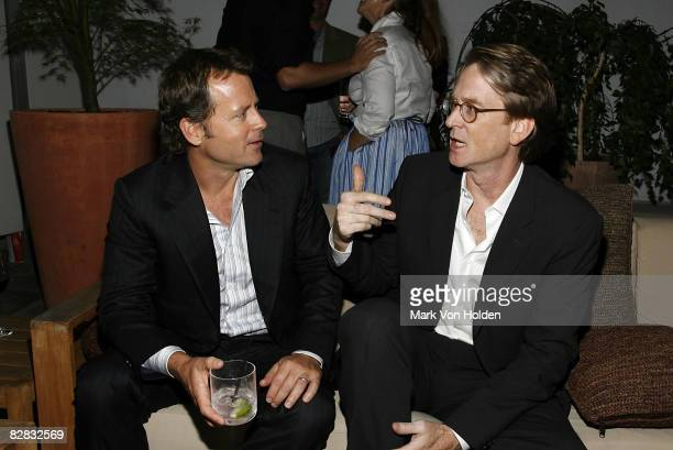 Actor Greg Kinnear and Director David Koepp attend the after party for Ghost Town at the Soho Grand Hotel on September 15 2008 in New York City