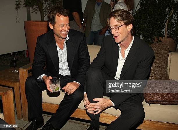 "Actor Greg Kinnear and director David Koepp attend the after party for ""Ghost Town"" hosted by The Cinema Society at The Soho Grand Hotel on September..."