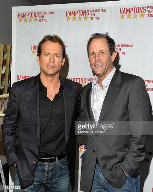 "Actor Greg Kinnear and Director Marc Abraham attend the ""Flash of Genius"" screening during the 16th Hamptons International Film Festival at Museum of..."