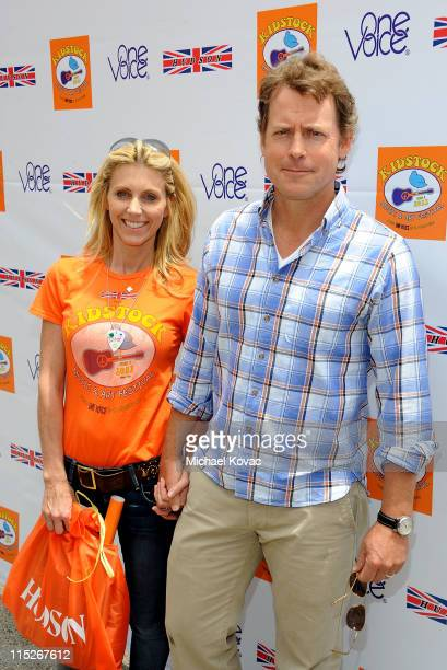Actor Greg Kinnear and Helen Kinnear arrive at the 5th Annual Kidstock To Benefit One Voice Scholars Program sponsored by Hudson Jeans at Greystone...