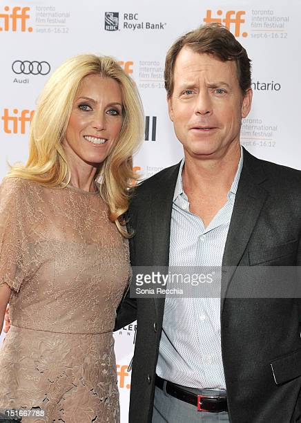 Actor Greg Kinnear and Helen Labdon arrive at the Writers Premiere at the 2012 Toronto International Film Festival at the Ryerson Theatre on...
