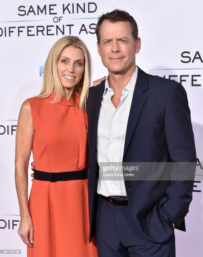 Actor Greg Kinnear and wife Helen Labdon arrive at the premiere of 'Same Kind of Different as Me' at Westwood Village Theatre on October 12, 2017 in Westwood, California.