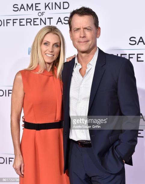 Actor Greg Kinnear and wife Helen Labdon arrive at the premiere of 'Same Kind of Different as Me' at Westwood Village Theatre on October 12, 2017 in...