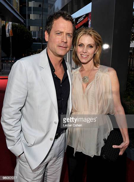 Actor Greg Kinnear and wife Helen Labdon arrive at the The Last Song Los Angeles premiere held at ArcLight Hollywood on March 25 2010 in Hollywood...