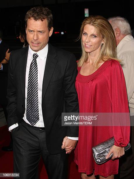 Actor Greg Kinnear and wife Helen Labdon arrives at the Feast of Love premiere at the Academy of Motion Pictures Art and Sciences on September 25...